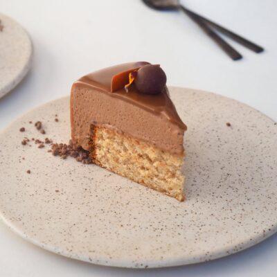 Hasselnødde-chokoladekage